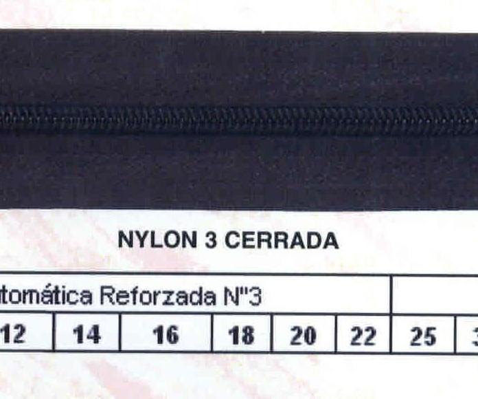 Cremallera SNS Nylon Cerrada Automática Reforzada num.3 Ref. 003662
