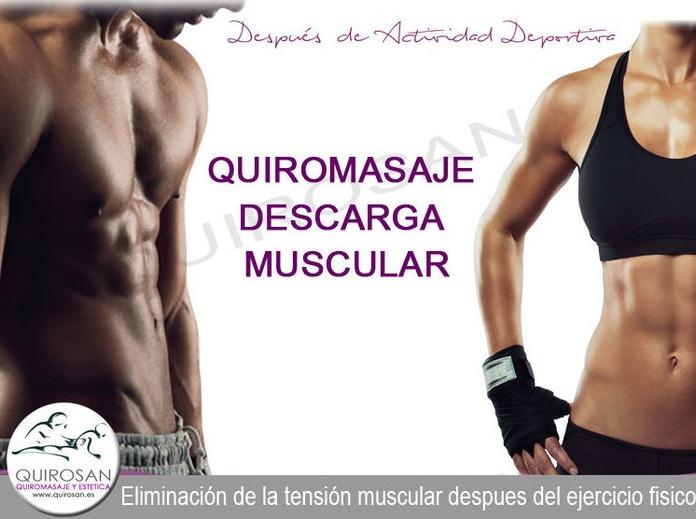 Quiromasaje Descarga Muscular, despues del Ejercicio Fisico