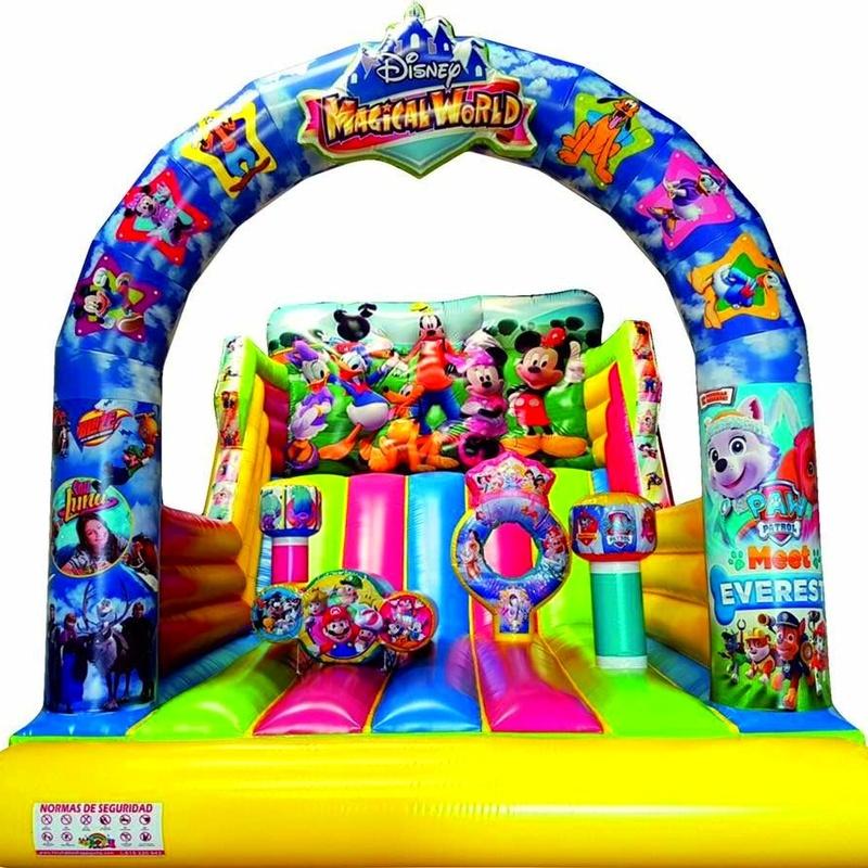 Castillo hinchable tobogán themespark : Catálogo de Hinchables Happy Jump