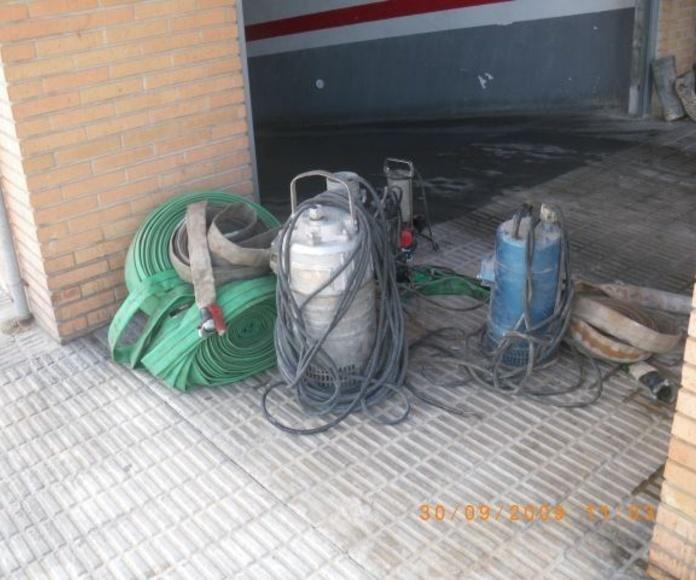 Inundaciones: Trabajos realizados  de Levante Instalaciones Fontanería y Gas