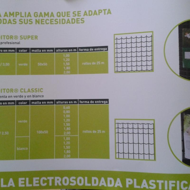 Malla electrosoldada  plastificada