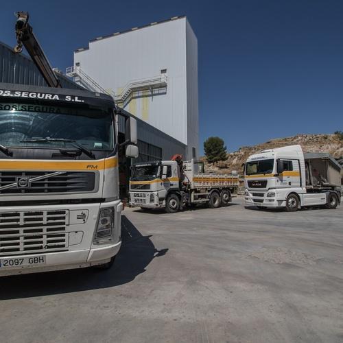 Transporte de yeso en polvo en Guadalajara