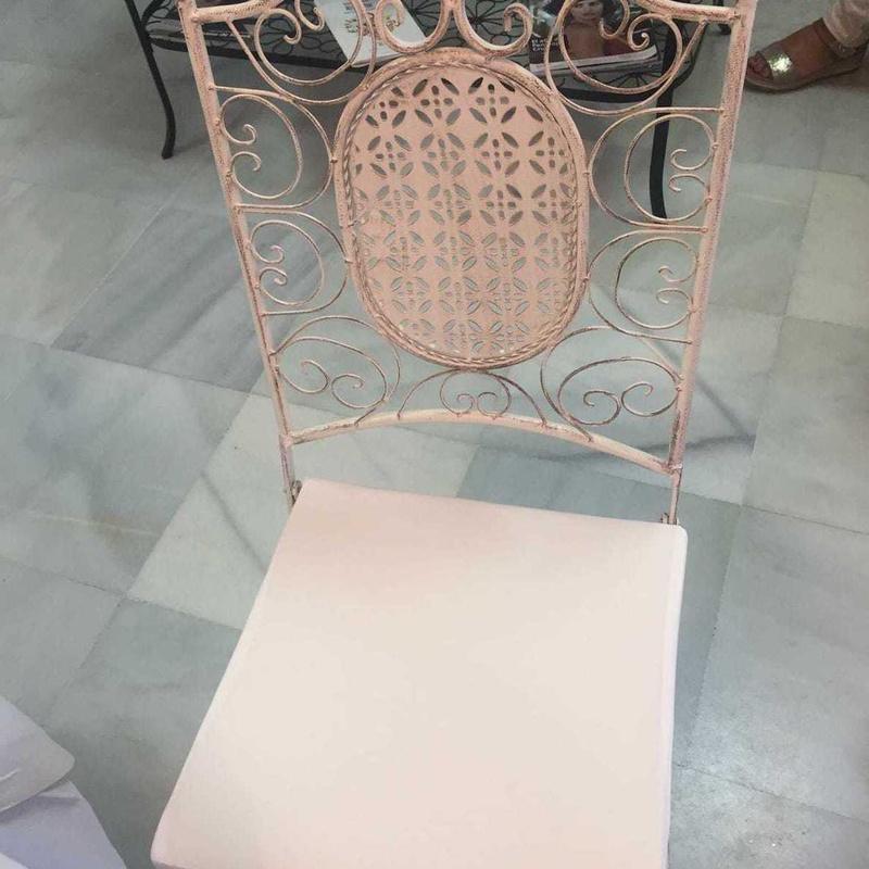 Silla metálica color blanca: Catálogo de Jedal Alquileres