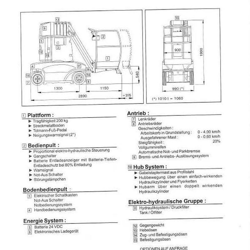 MASTIL VERTICAL ELECTRICO 10,10 M.: Catálogo de Eleva Rent