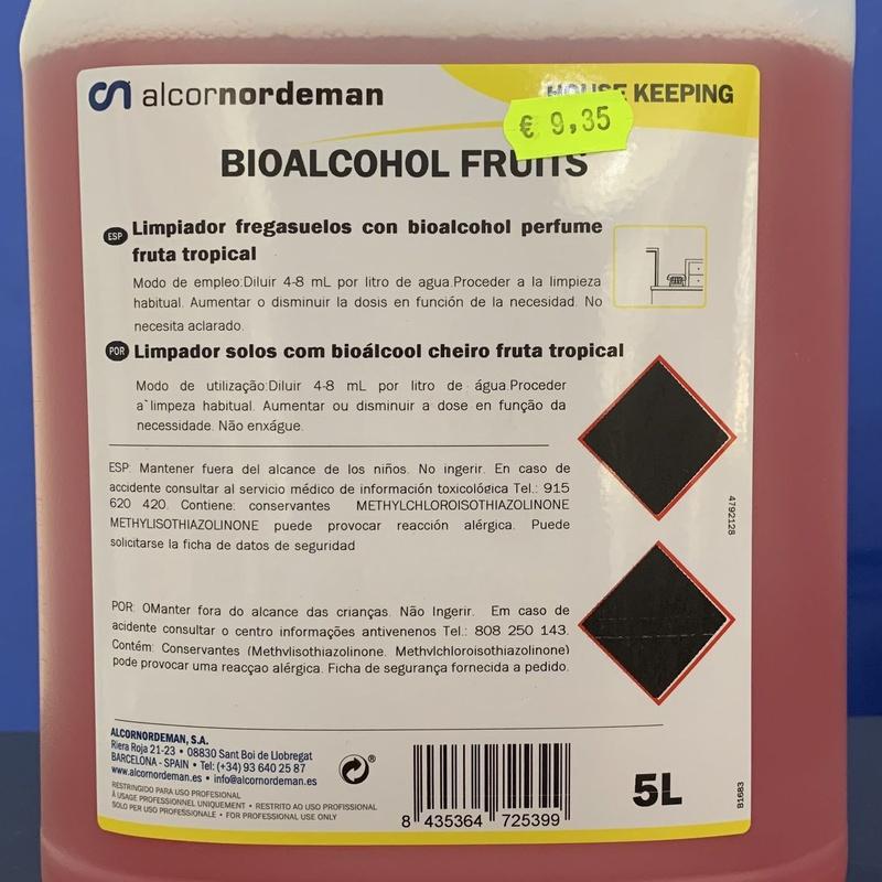 Fregasuelo bioalchool fruits : SERVICIOS  Y PRODUCTOS de Neteges Louzado, S.L.