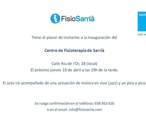 Inauguración FisioSarriá