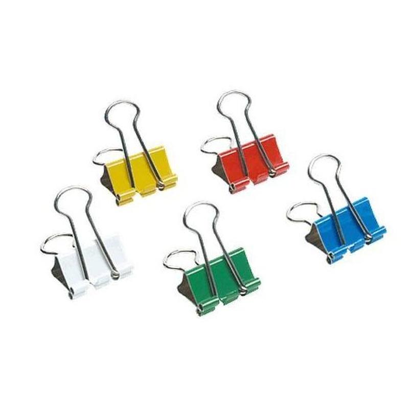 5 Estrellas caja 12 pinzas clip 32 MM. Colores surtidos REF. 925184: Tienda On-line de Papelería La Creativa