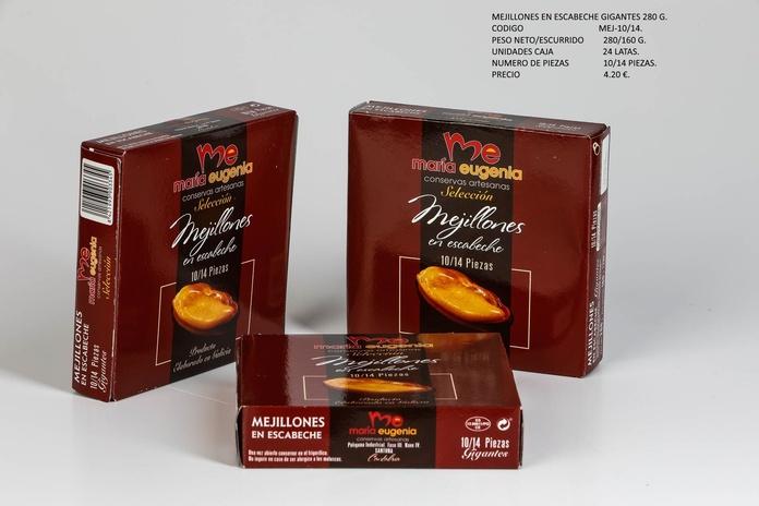 Mejillones en escabeche gigantes 280 G: Productos de Conservas Artesanas María Eugenia
