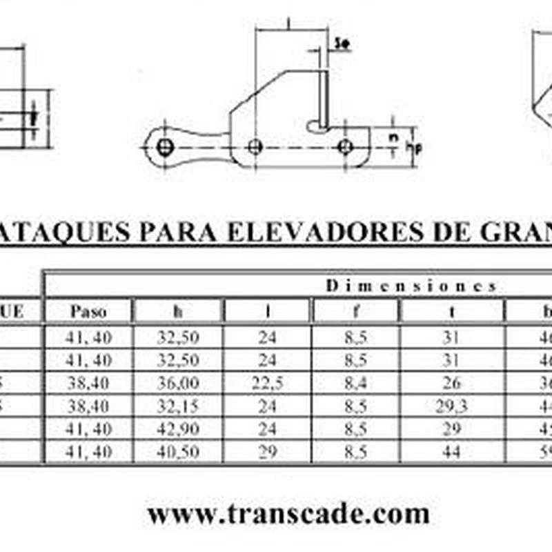 Folleto cadenas agrícolas: Catálogo de Transcade
