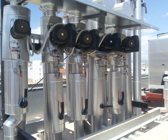 Trabajos realizados: Sistemas de climatización de J.A. Refrigeración, S.L.