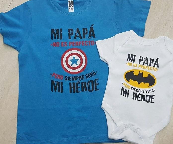 Camisetas y bodys personalizados