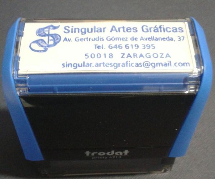 Sellos : Productos y Servicios de Singul@r Artes Gráficas