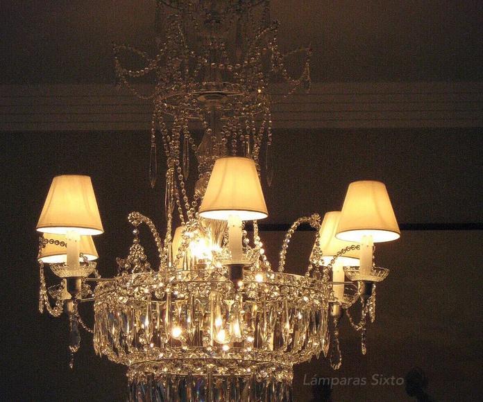 Lámpara Imperio Carlos IV. Cristal de Bohemia.: Catálogo de Restauración de Lámparas y Arañas
