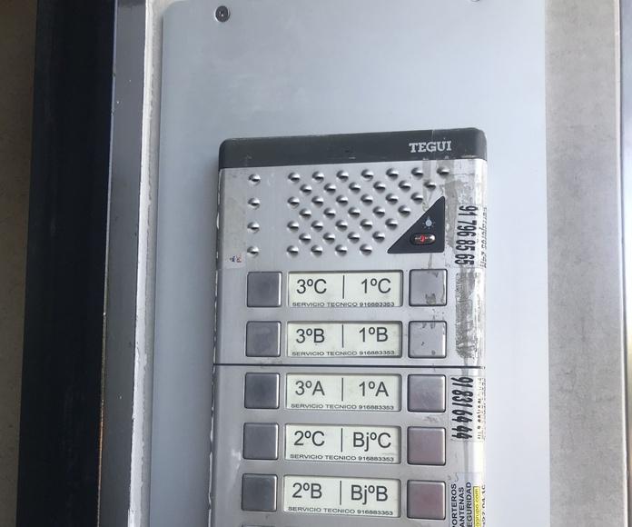 Instalación de porteros automáticos en Tetuán