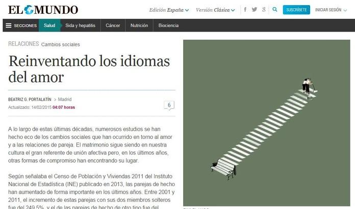 """Artículo en El Mundo. es: """"Reinventando los idiomas del amor"""""""