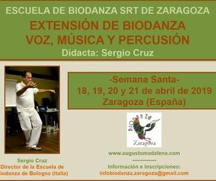 Extensión Biodanza Voz, Música y Percusión. Con Sergio Cruz.