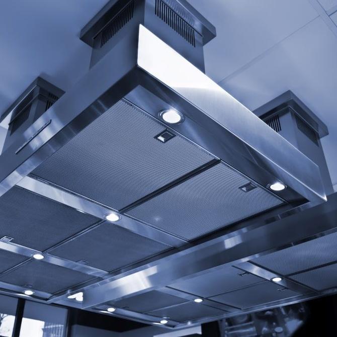¿Qué tipos de filtros usan las campanas extractoras?