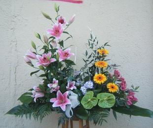 Centro a dos alturas de flor variada