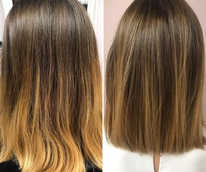 Corrección de color y corte para una media melena espectacular