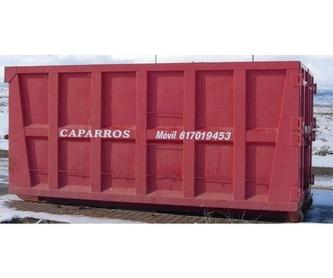 Alquileres para podas: Productos y servicios de Contenedores Caparrós