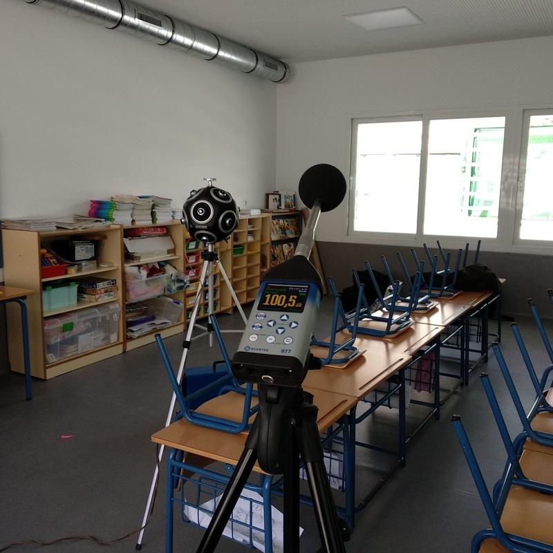 Medición acústica CTE DBHR - Colegio