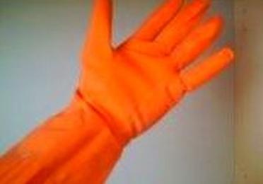 Guantes de menaje flocado naranja