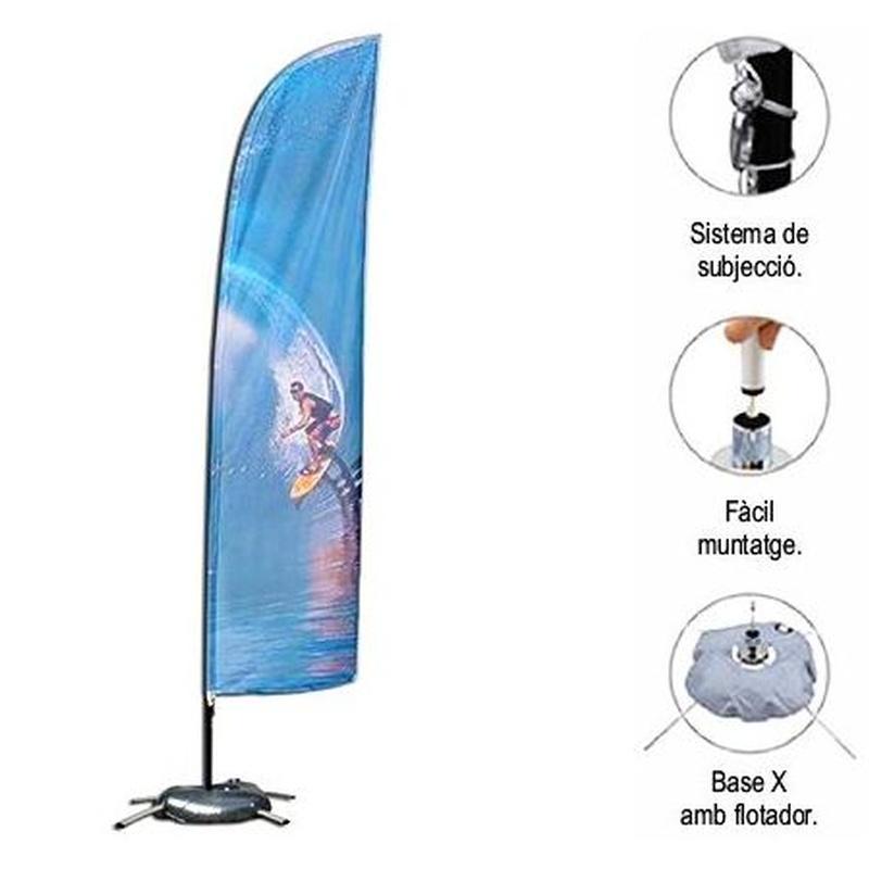 """Banderola (surf) """"L"""": Productos de Copistería Figuerola"""