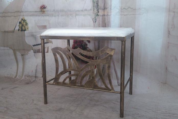 Banqueta Pontevedra: Catálogo de muebles de forja de Forja Manuel Jiménez