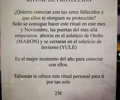 Ritual especial protección