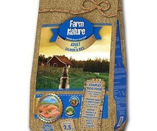 Farm nature salmón y arroz