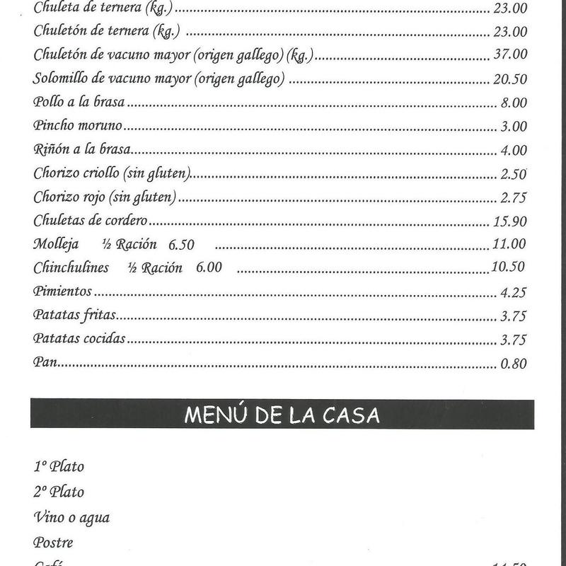 Carnes a la brasa - Parrillada Buenos Aires A Coruña