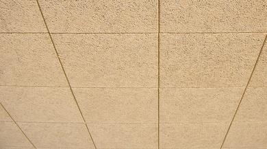 Knauf Organic,techo desmontable de viruta de madera