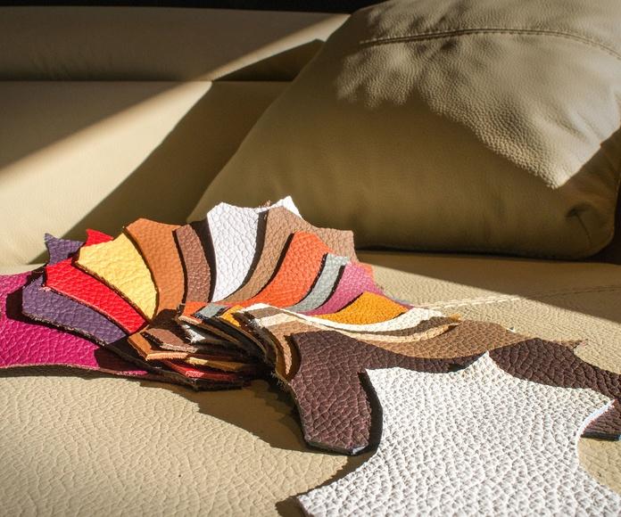 Una amplia gama de piel natural, semi-piel y polipiel.