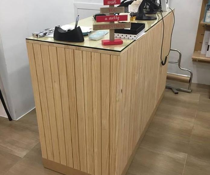 Fabricación de mobiliario comercial Murcia.