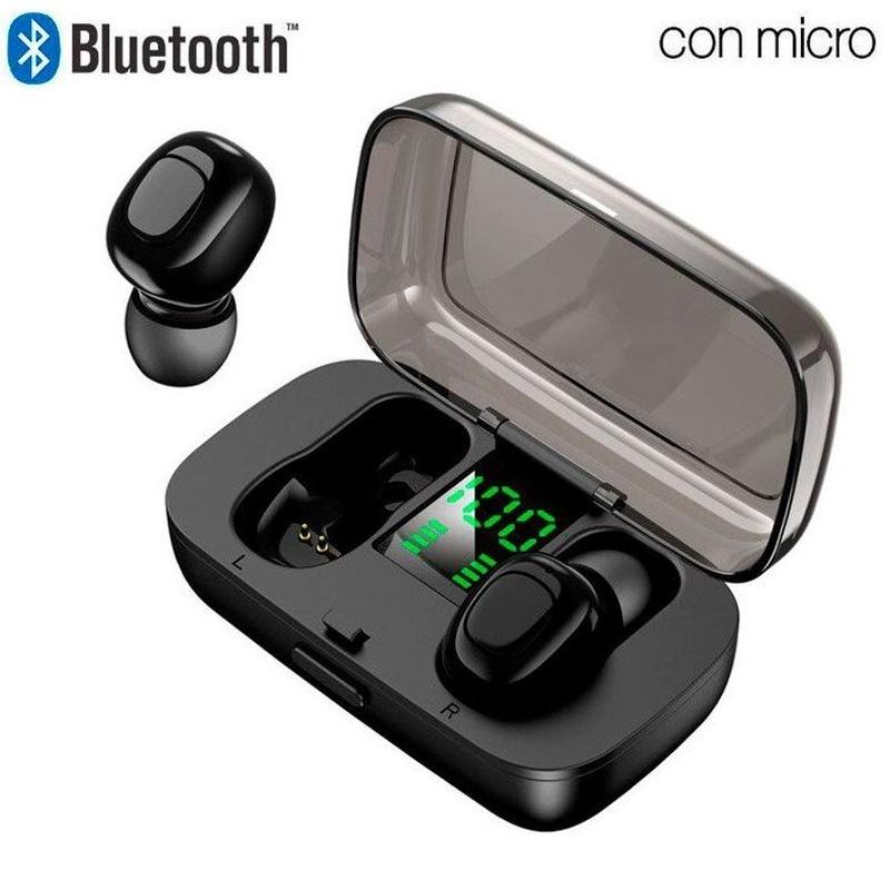 Auriculares Stereo Bluetooth Dual Pod Earbuds COOL DISPLAY Negro: Compra y Venta de Ocasiones La Moneta