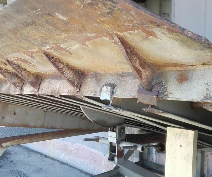 plataforma de carga manual soldaduras partidas en Silla