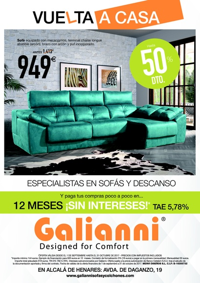 Sofás: Productos para el descanso de Galianni