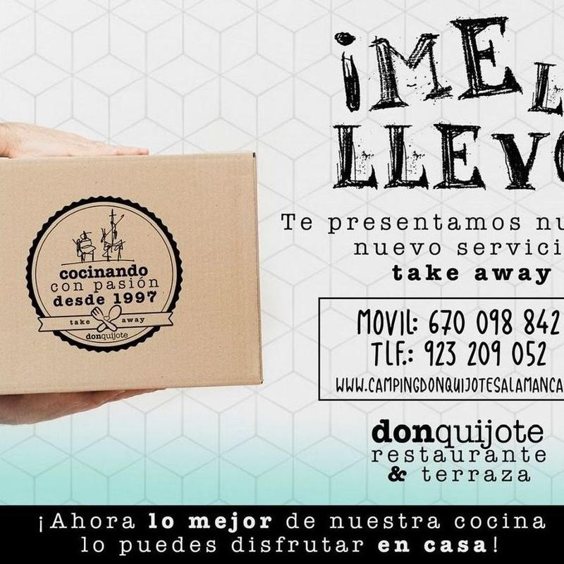 """""""¡Me lo llevo!/ ¡Me lo bebo!"""": Servicios de Camping Don Quijote"""