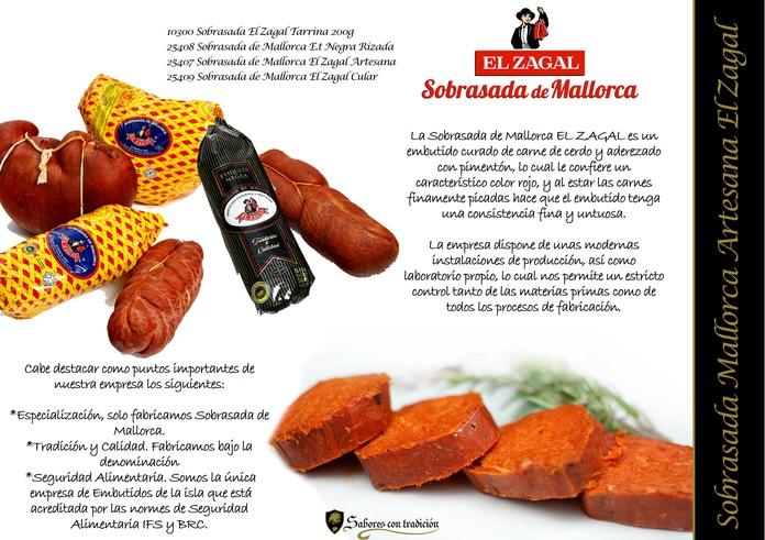 "Sobrasada "" Artesana Mallorca El Zagal "": Productos de Sabores con tradición"