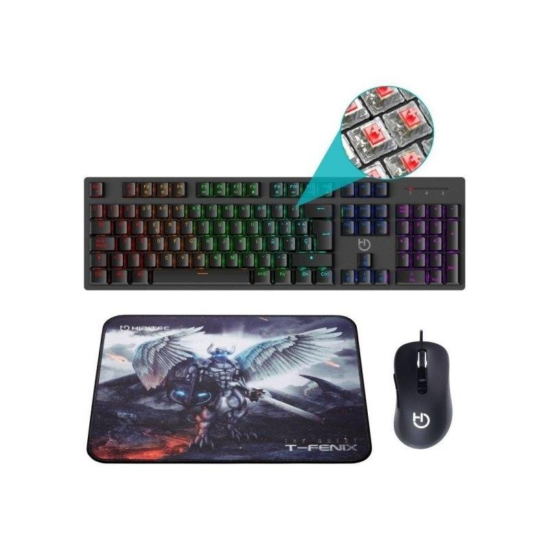 Hiditec Combo Gaming GK400 Tecl+Rat+Alfombrilla: Productos y Servicios de Stylepc