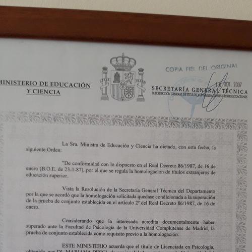Homologación Título en España