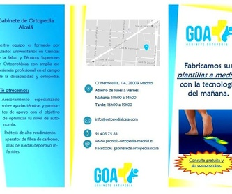 Ortopedia deportiva: ¿Qué podemos ofrecerte? de Gabinete de Ortopedia Alcalá, S.L.