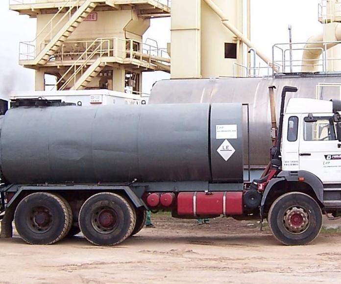 camión Cuba Riego de emulsión