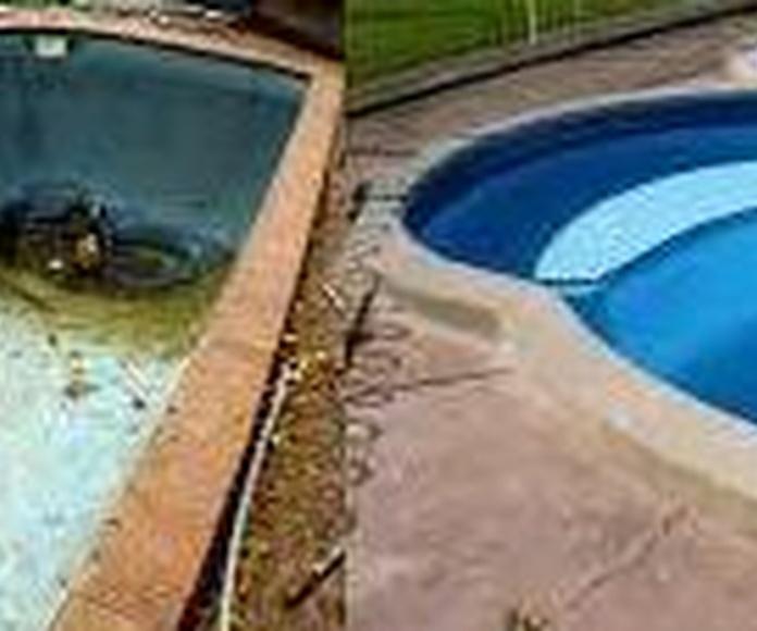 Restauracuion de piscina de poliester