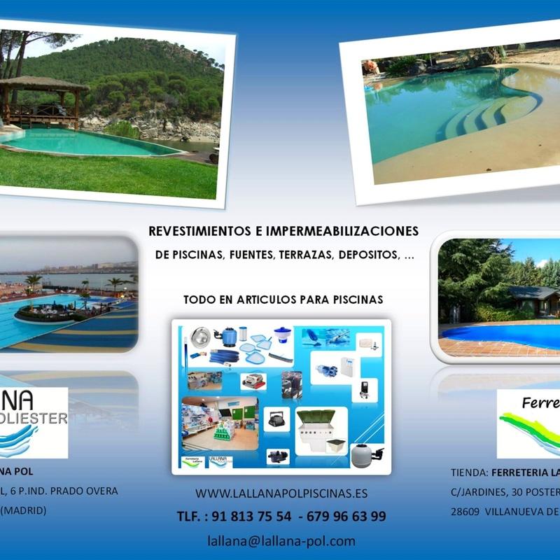 Revestimientos y rehabilitaciones de piscinas, terrazas, azoteas, depositos: Productos y servicios de Lallana Pol