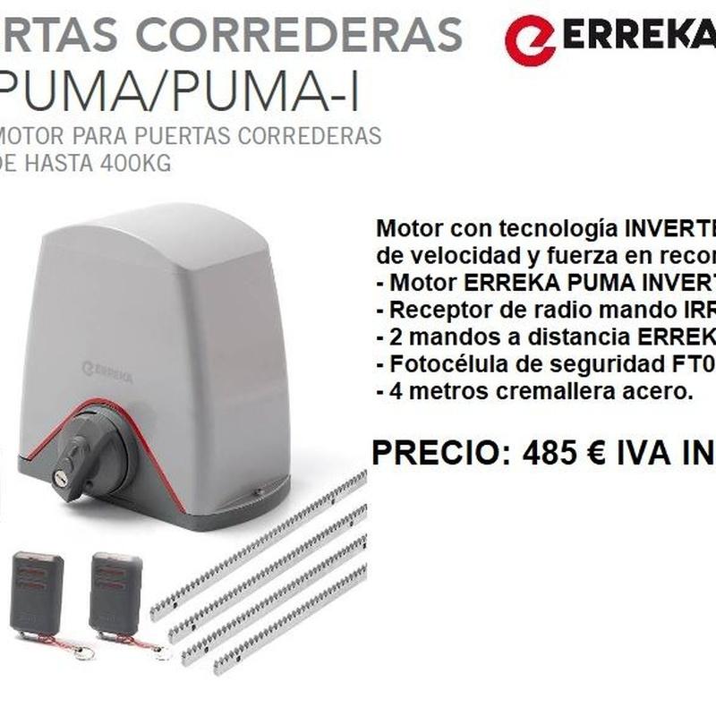 Kit Erreka Puma Inverter: Servicios de Puertas automáticas Odiel