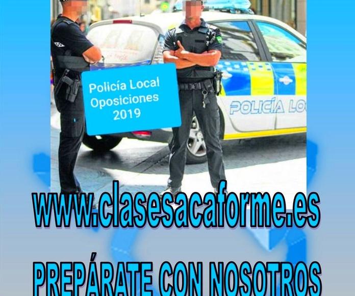OPOSICIONES POLICÍA LOCAL 2019 - 2020: Formación de Acaforme