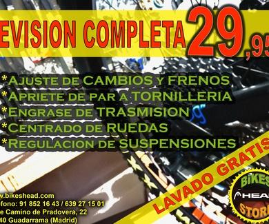 OFERTA REVISIÓN COMPLETA CON LAVADO GRATUITO (MARZO/ABRIL)