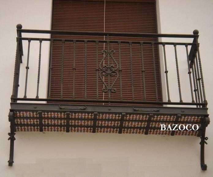 Balcón forjado