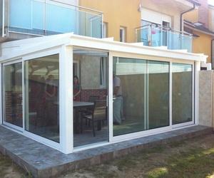 Cerramiento de porche con veranda a un agua en Guarnizo